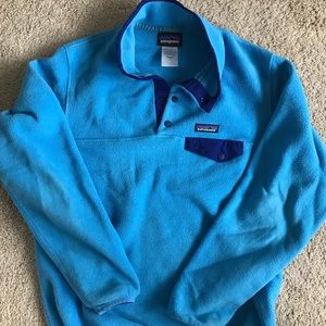 Patagonia Light Blue Fleece Synchilla Pullover